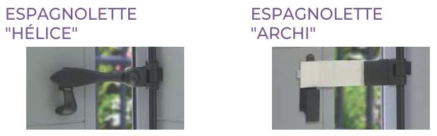 Espagnolettes design