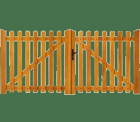 portail bois ajourés - argenton - Sothoferm