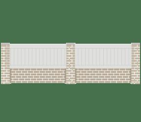 clôture en pvc - cardal - Sothoferm