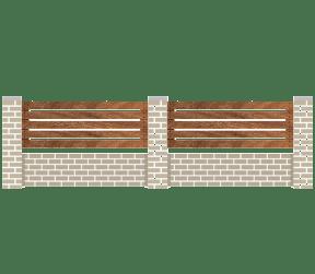 clôtures bois - padôme - Sothoferm
