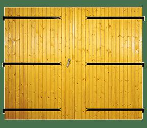 porte de garage en bois venus - Sothoferm
