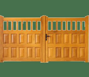 portail bois mixte - sèvres - Sothoferm