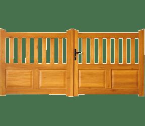 portail bois mixte - thouaret - Sothoferm